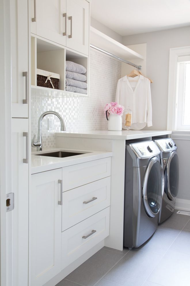 16x20 Furnace Filter   Transitional Laundry Room  and Flowers Hanging Rod Organization Storage Vase Window