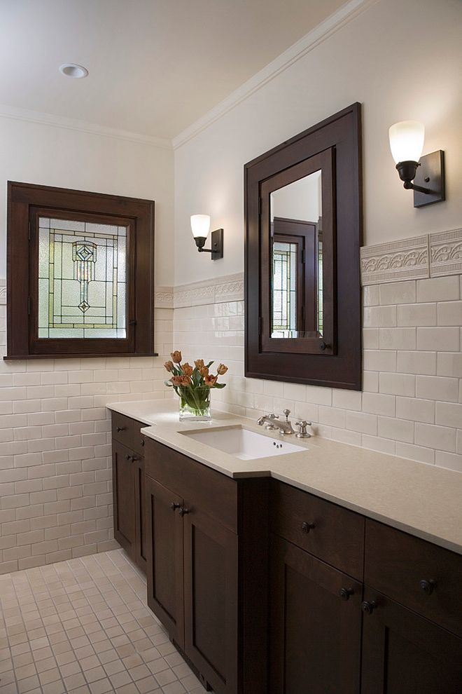911 Restoration Reviews with Victorian Bathroom Also Stained Glass Tile Wainscoting White Countertop