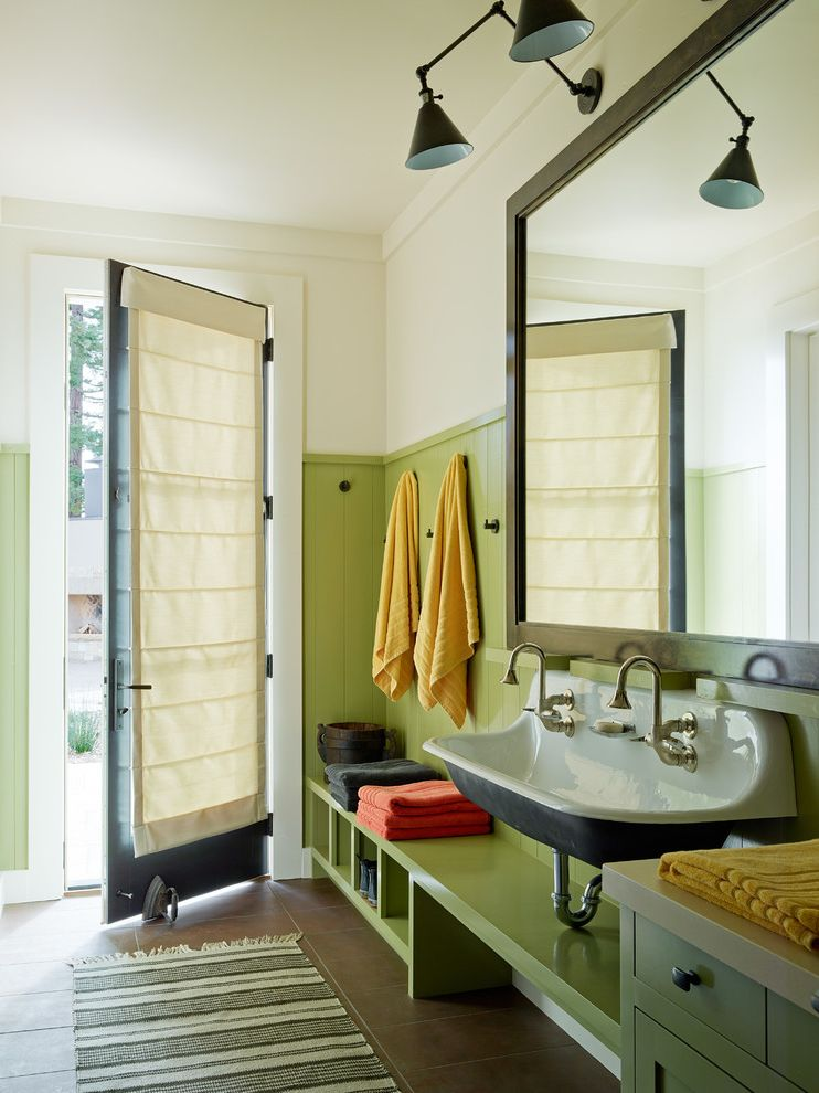 Aaa Santa Rosa with Transitional Entry  and Colorful Accents Green Green Wainscoting Interior Design Kids Bathroom Mud Room Napa Sonoma Tile Floor Wine Country