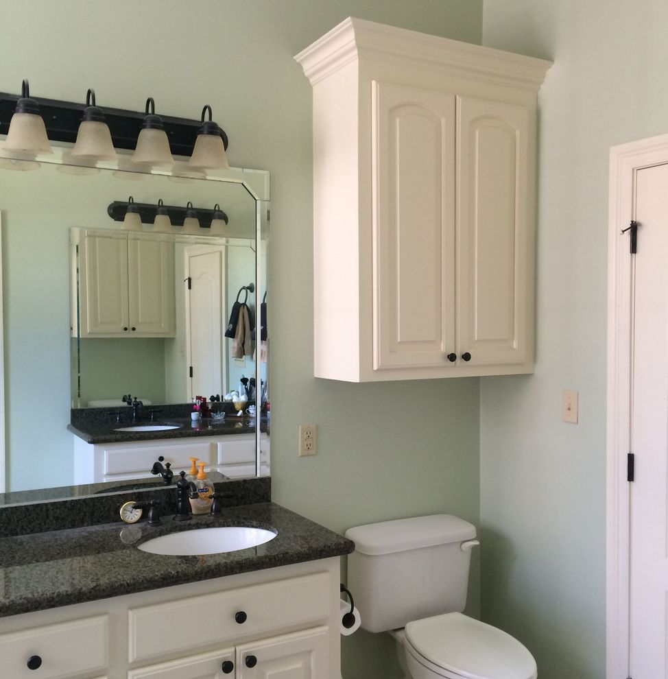 Acadian Style Homes   Rustic Bathroom  and Acadian Style Compact Copper Lanterns Custom Cabinetry Custom Interior Custom Wood Trim Custom Woodwork Granite Countertops High Ceilings Interiors Single Level