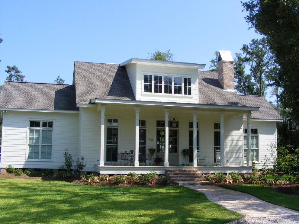 Acadian Style Homes with Traditional Exterior Also 2 Story Raised Acadian Style Home