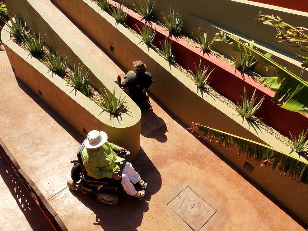 Ada Ramp Design   Tropical Landscape Also Accessibility Baja Color Disabled Garden Mexico Ramp Wheelchair