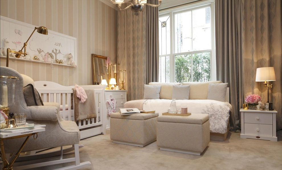 Adult Daybed   Traditional Nursery Also Cot Cots Crib Crib Accessories Cribs and Cot Beds Mayfair Nursery Nursery Nursery Decor Nursery Furniture Nursery Wallpaper Striped Wallpaper