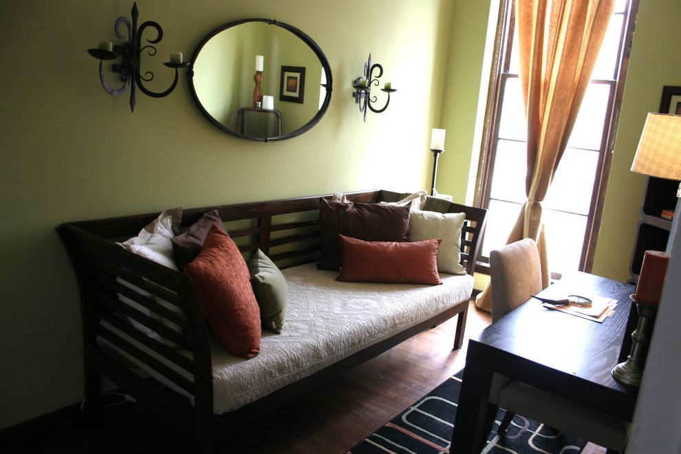 Adult Daybed with Eclectic Home Office  and Antique Color Modern