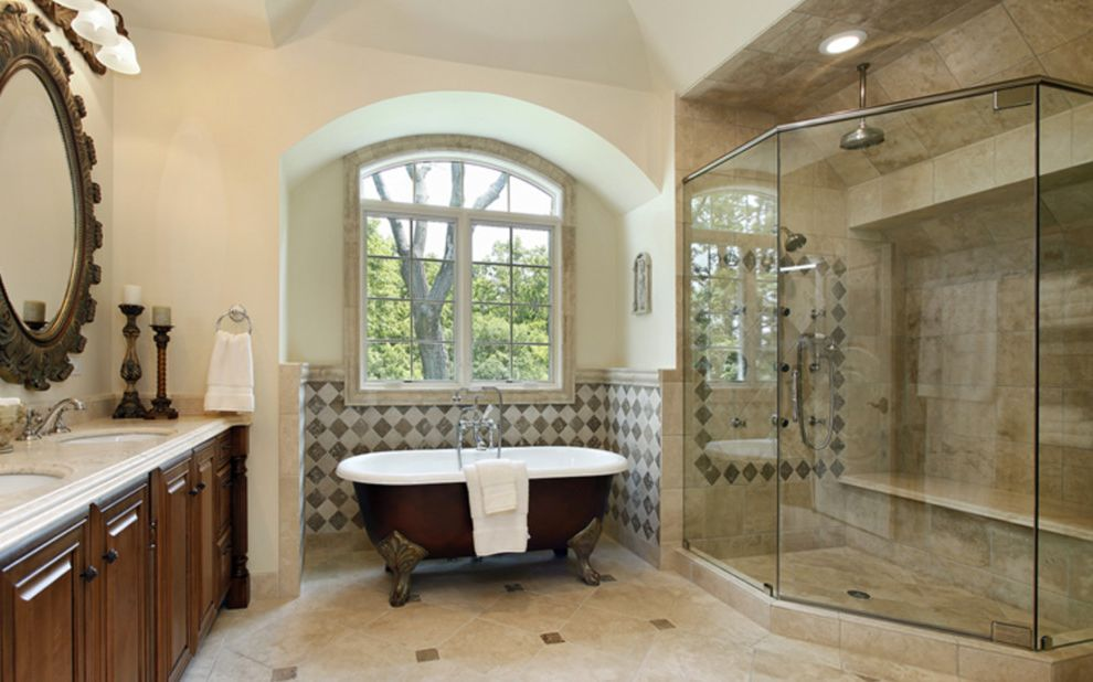 Alderfer Glass   Traditional Bathroom  and Traditional