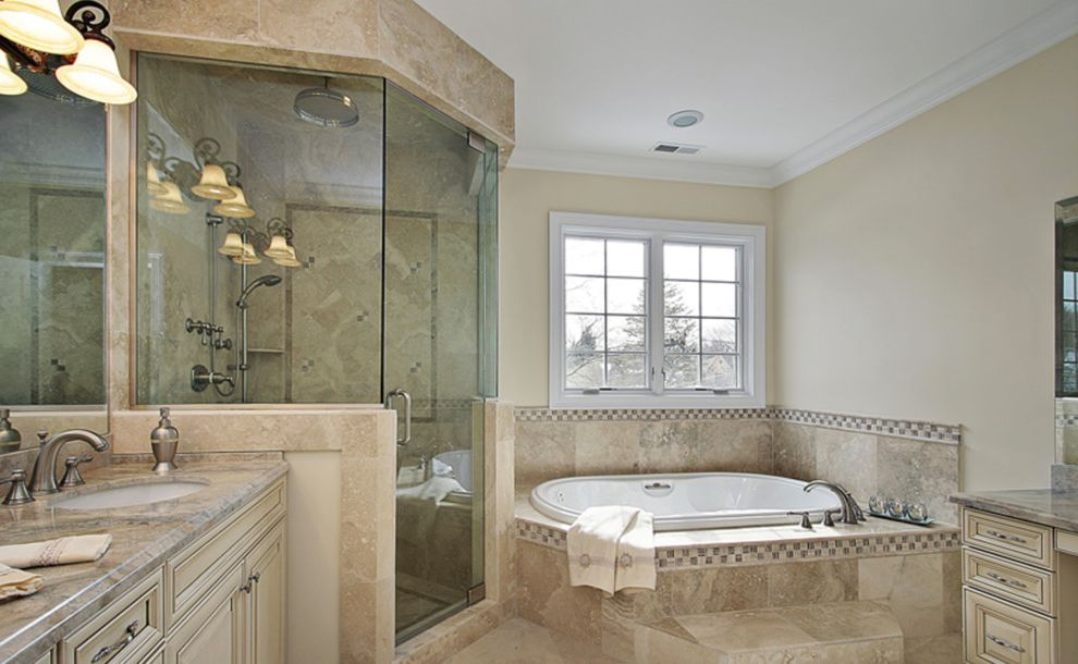 Alderfer Glass with Traditional Bathroom Also Traditional