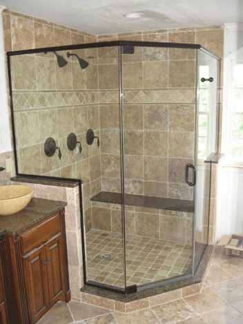 Alderfer Glass with Traditional Bathroom  and Traditional