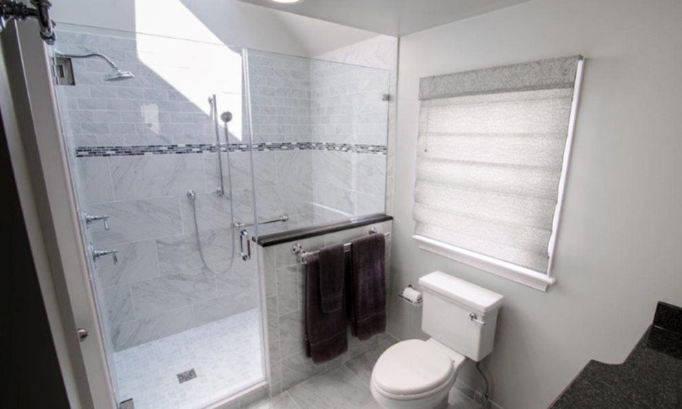 Alderfer Glass with Transitional Bathroom Also Transitional