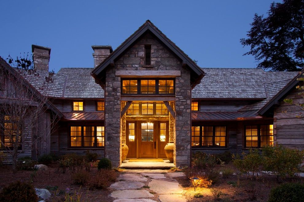 Allcon Roofing   Rustic Exterior Also Cedar Shake Copper Custom Made Logs Rustic Wood