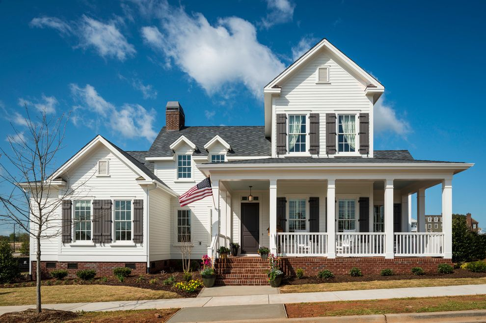 Allcon roofing with traditional exterior and architect for Home builder program