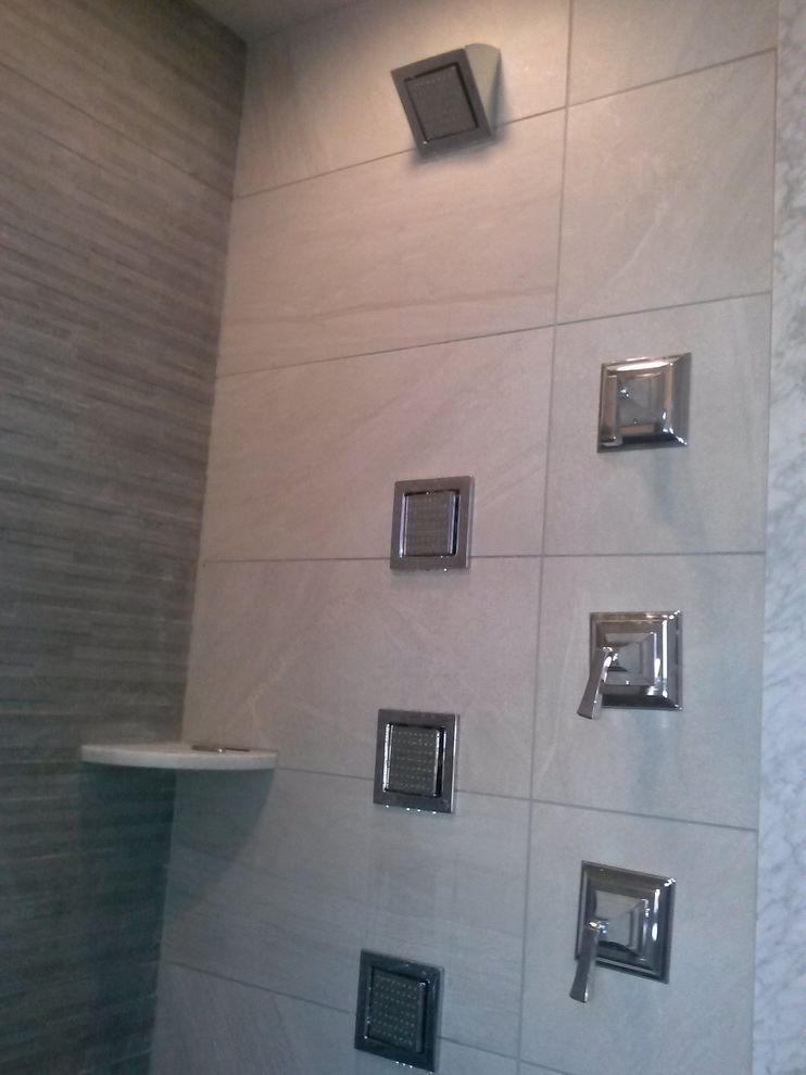 Allens Plumbing with Modern Bathroom  and Body Sprays Chrome Gray Volume Control Watertile