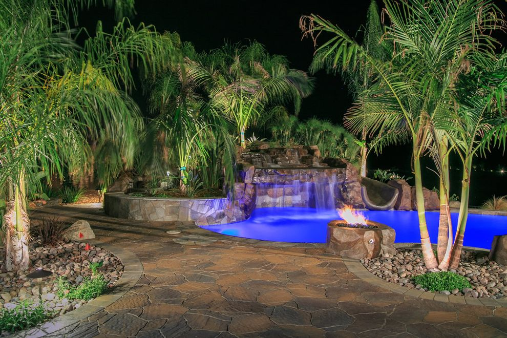 Allstar Management    Landscape  and Backyard Bbq Belgard Custom Backyard Landscape Landscape Design Outdoor Kitchen Outdoor Living Outdoor Retreat Pavers San Diego