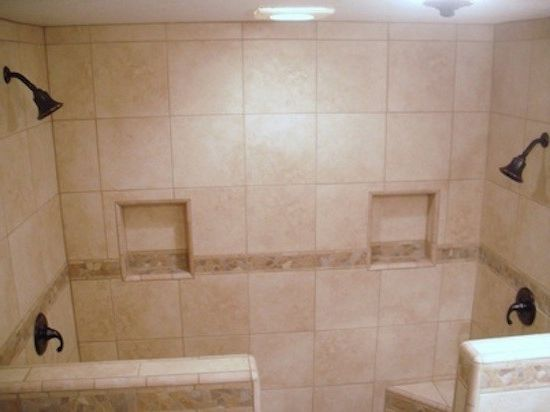 Allstar Management with  Bathroom  and Bathroom Beige Shower Tile Ceiling Lighting Double Shower Shower