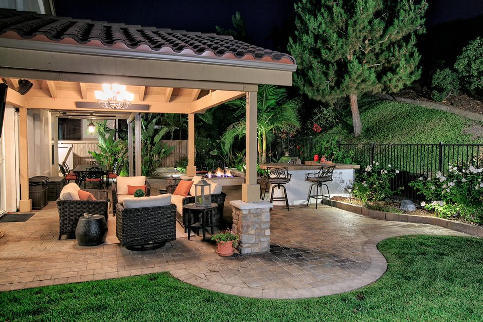 Allstar Management with  Landscape Also Backyard Bbq Belgard Custom Backyard Landscape Landscape Design Outdoor Kitchen Outdoor Living Outdoor Retreat Pavers San Diego