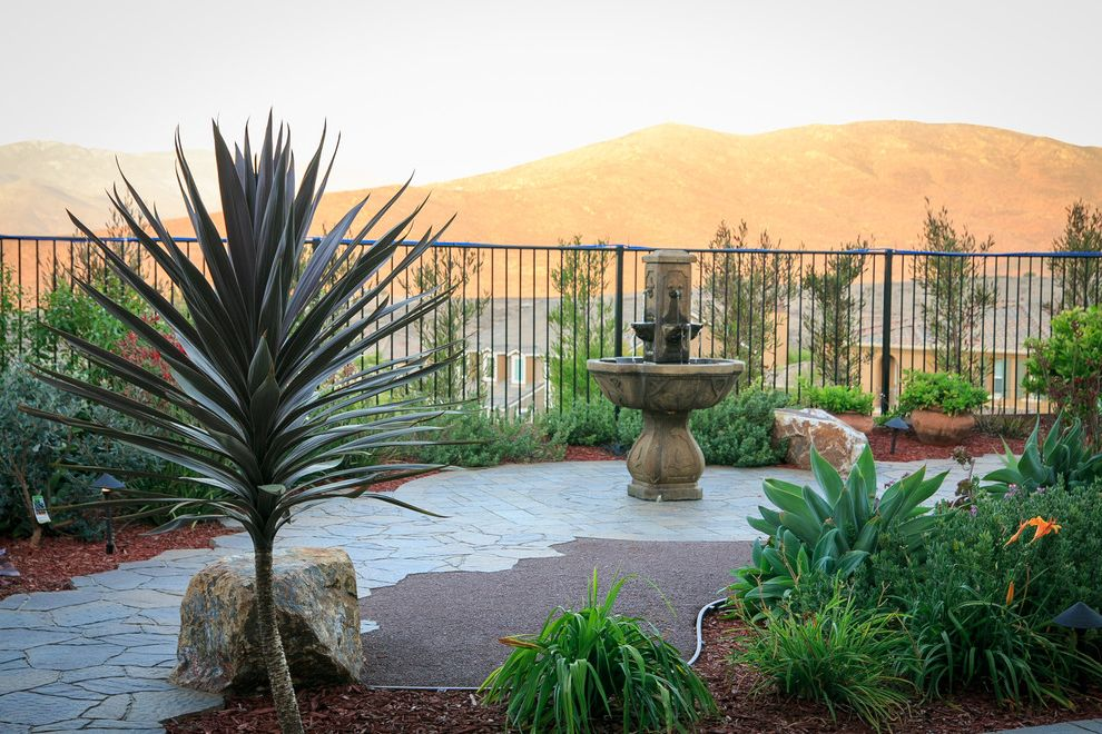Allstar Management with Southwestern Landscape  and Belgard Driveway Drought Tolerant Fire Feature Fire Pit Hardscape Landscape Landscape Lighting Outdoor Dining Outdoor Lighting Outdoor Living Paver Steps Pavers Walkway