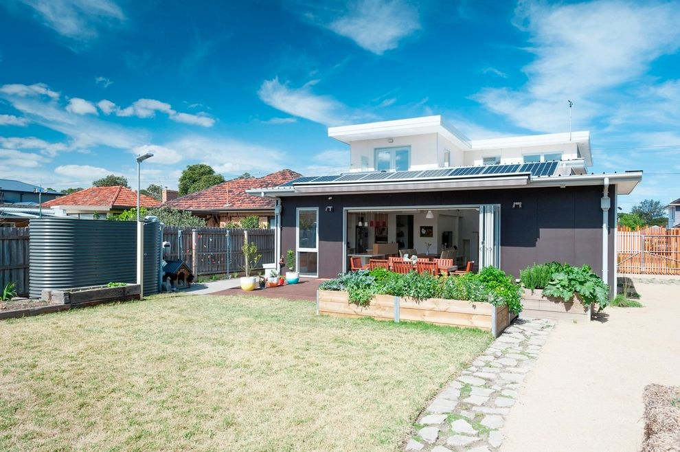 Aloha Power Equipment with Modern Landscape  and 9 Star House Energy Rating Design and Build Project Home Hia Greensmart Project Home of 2014 Master Builder Best Sustainable Energy Home 2014 Melbourne Sustainable