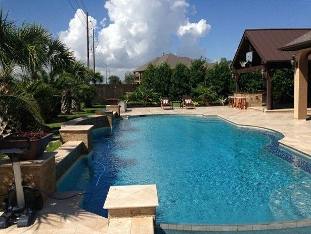 Alvin Hollis   Transitional Spaces Also Eagleston Garden Holly Houston Pool Texas Trees