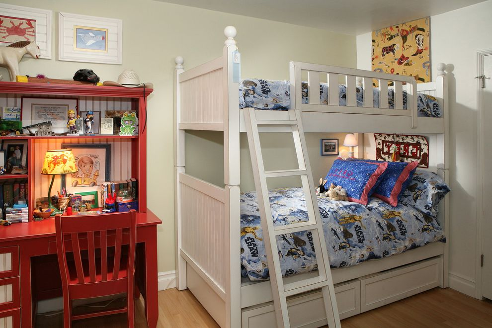 American Furniture Bunk Beds Rustic Kids Also Beadboard Bedroom Boys  Bedroom Bunk Beds Loft Bed Red Desk Rustic Wall Art Wall Decor White Bed  Wood Flooring ...