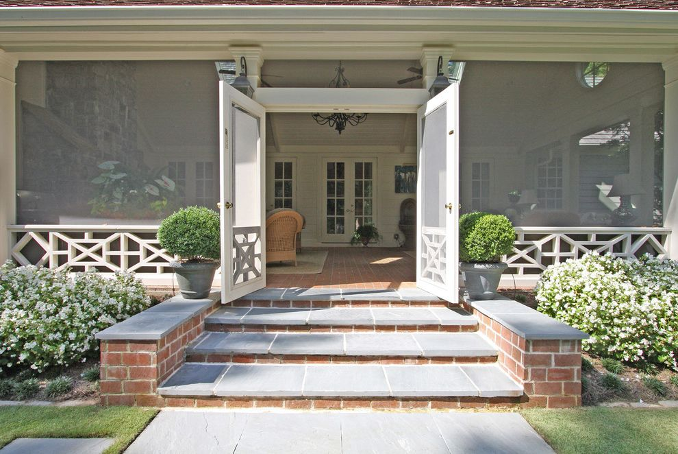Anderson French Door Screen Traditional Porch Also Chandelier Coping