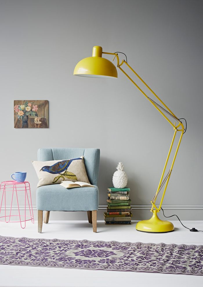 Annie Mac Mortgage with Eclectic Living Room Also Annie Sloan Plastic Rug Bird Blue Chair Cushion Flower Painting Paris Grey Pineapple Wire Stool Yellow Yellow Floor Lamp