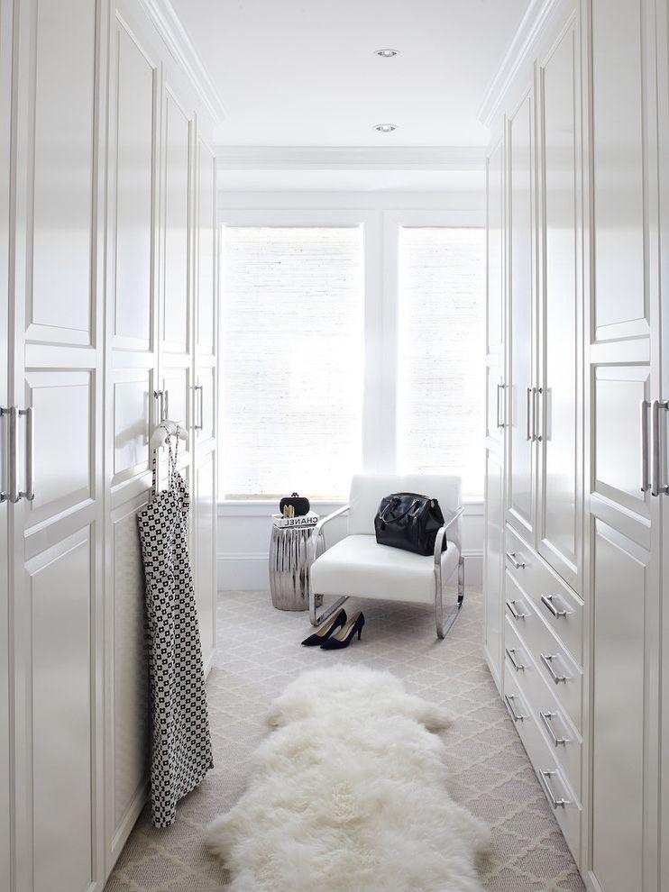 Anso Nylon Carpet   Transitional Closet Also Bar Pulls Roman Shade Sheep Skin Rug White Chair
