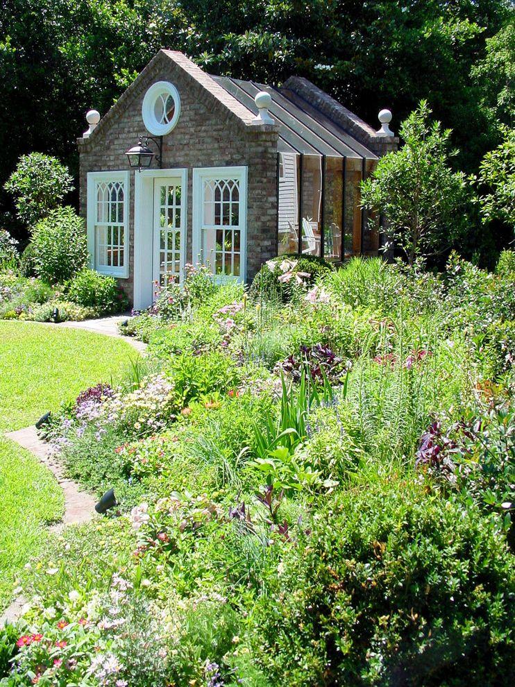 Apple Store Augusta Ga with Victorian Shed  and Flower Garden Garden Garden Shed Glass Door Greenhouse Lantern Lawn Potting Shed Round Window White Trim