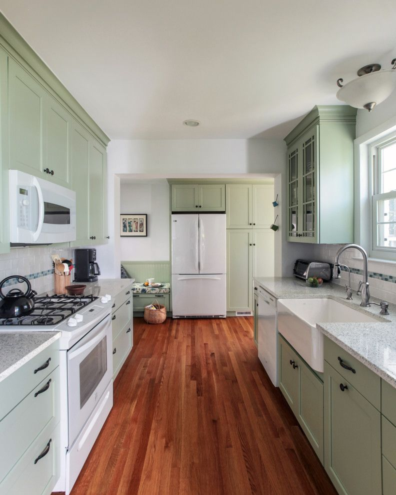 Appliance Discount Warehouse   Traditional Kitchen  and 3x6 Subway Tile Best of Houzz Ceiling Design Farm Kitchensink Galley Kitchen Hardwood Floor Light Green Cabinets Narrow Space Seating Area Small Kitchen Washington Dc White Applicances