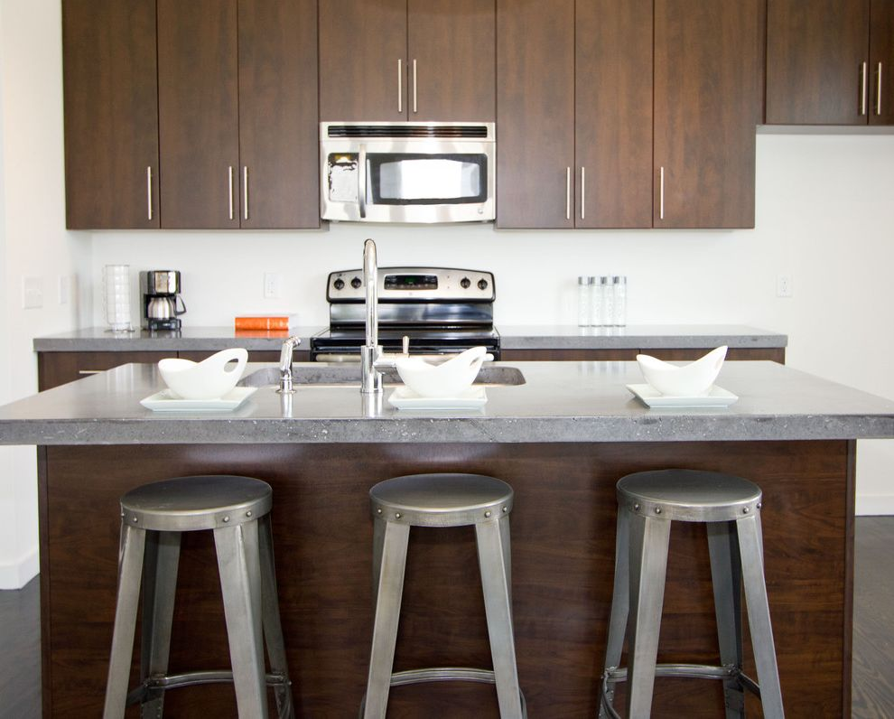 Appliance Parts Fayetteville Nc with Contemporary Kitchen  and Breakfast Bar Dark Wood Cabinets Eat in Kitchen Kitchen Hardware Kitchen Island Nc Neutral Colors Stainless Steel Appliances Wilmington