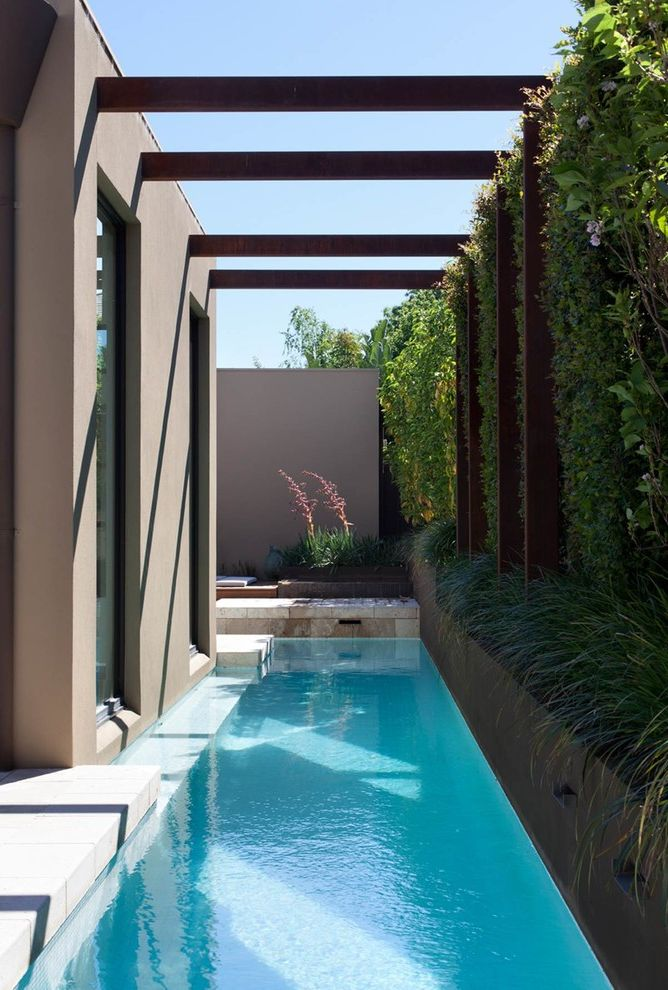 Aquamarine Pools with Contemporary Pool  and Contemporary Living Modern Design Narrow Pool Privacy Wall