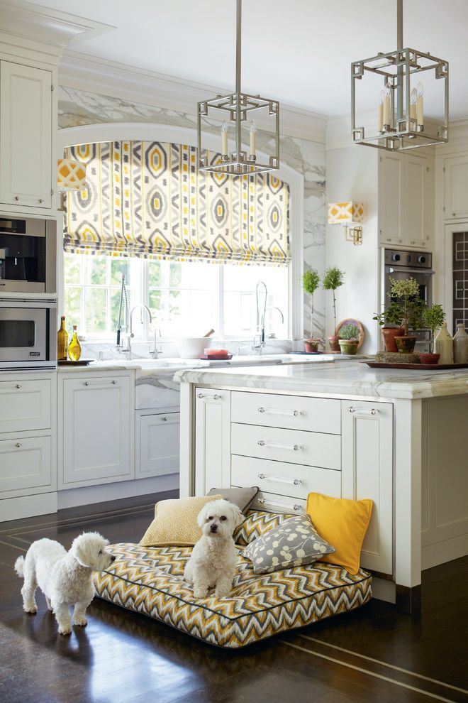 Arch Window Shade with Traditional Kitchen Also Arched Window Calico Decorative Pillows Dog Bed Patterned Shade Pendant Lights Wall Sconces White Countertop