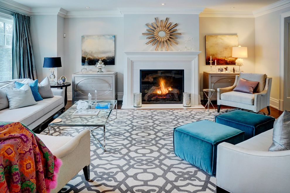 Area Rugs at Costco with Contemporary Family Room Also Arm Chairs Bolt Patterns Crown Molding Curtain Panels Fireplace Glass Coffee Table Light Gray Mantel Modern Family Room Painting Settee Silvered Dresser Starburst Mirror Velvet Ottomans White
