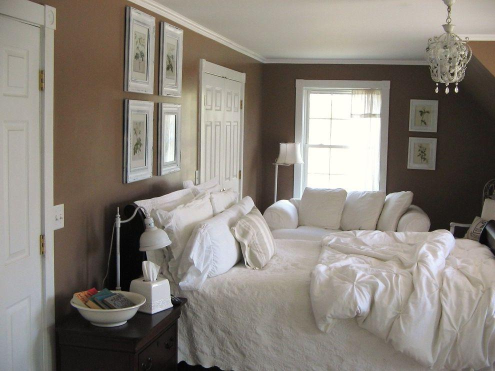 Ashley Furniture Davenport Iowa   Eclectic Bedroom Also Bedroom Brown Chandelier Chocolate Brown Crown Moulding Diy White