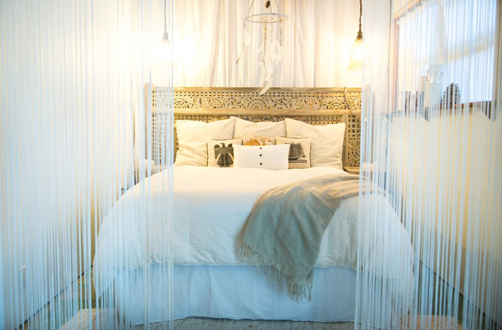 Ashley Furniture Huntsville Al with Beach Style Bedroom  and Beige Throw Dream Catcher My Houzz Ornate Headboard White Duvet Cover