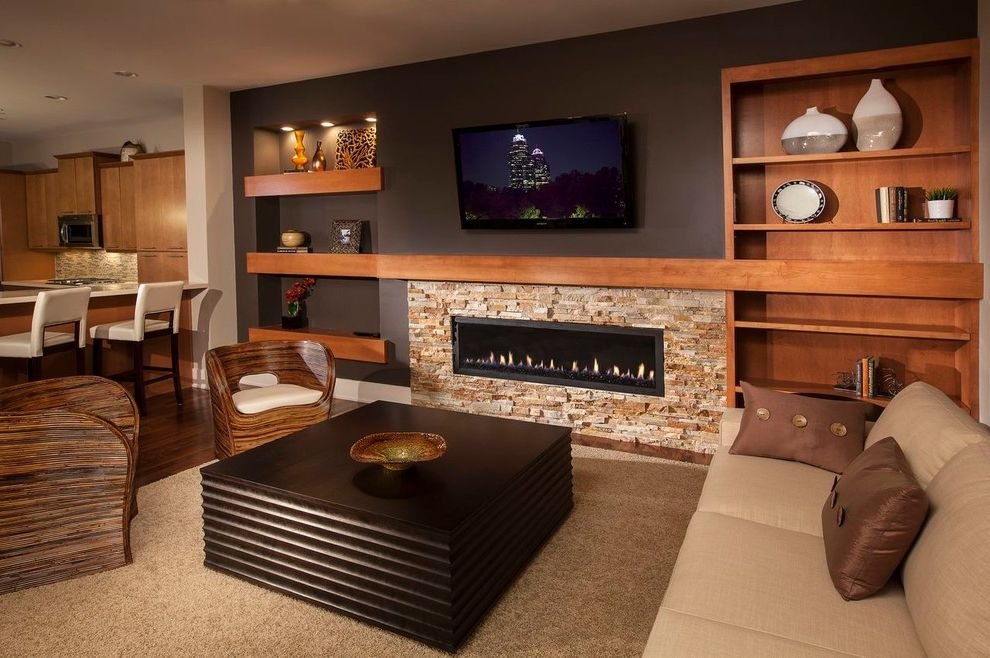 Atlanta Builders Supply   Contemporary Living Room Also Alderwood Ashton Woods Homes