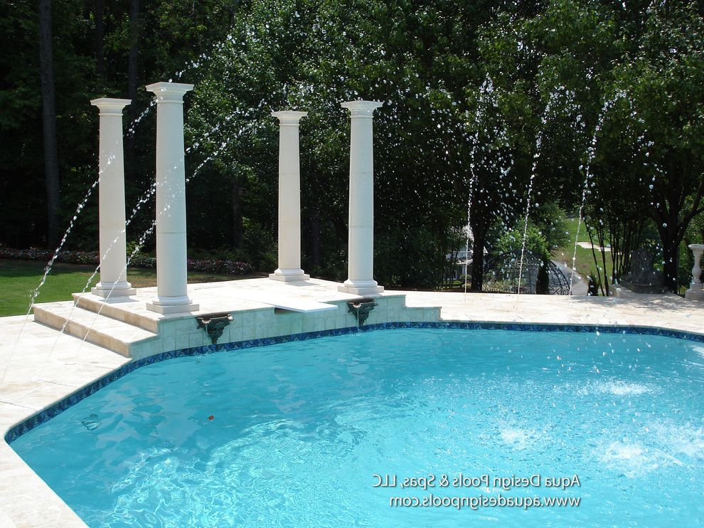 Atlanta Pool Builders with Traditional Pool Also Atlanta Pool Builder Atlanta Pool Builders Estate Pool Firepit Firepits Pools with Spas Spa Water Feature Pool