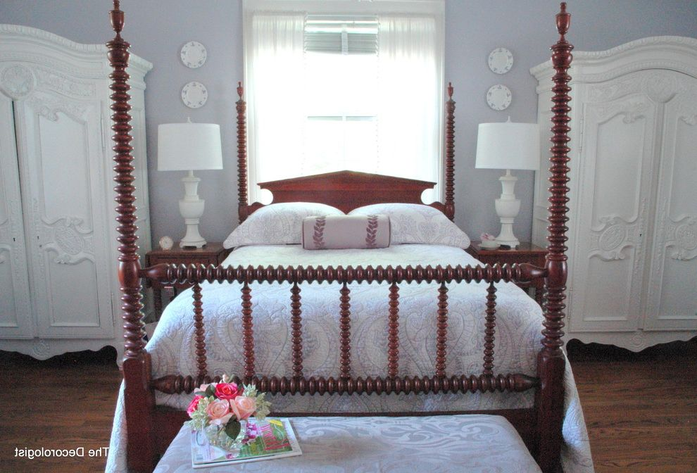 Atlantic Bedding and Furniture Nashville Tn with Traditional Bedroom  and Antique Armoires Bedroom Gustavian Lavender Painted Furniture Purple Shabby Shic Symmetry Vintage White Lamps