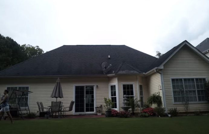 Atlas Chalet Shingles with Traditional Exterior Also New Roof Newnan Reroof Roof Roofing Gutters