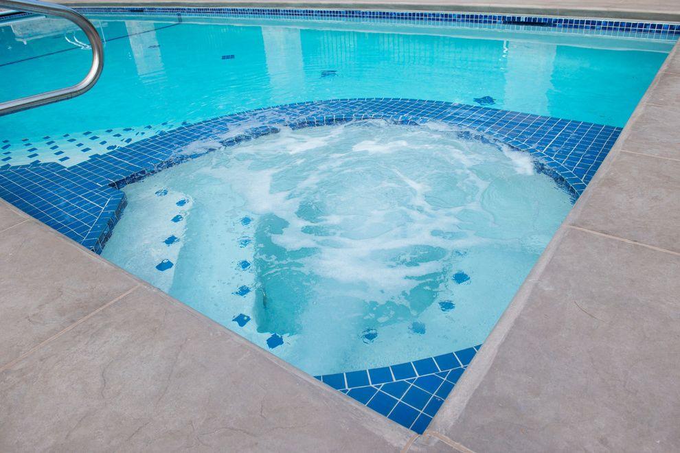 Auto Toyz Iowa City with Contemporary Spaces  and Custom Design Custom Spa in Pool Spa Iowa City Lap Lane Shelf Spa Steps Swimmer Swimming Pool Tile