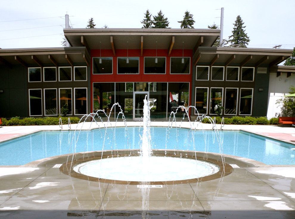 Avalon Alderwood with Modern Pool Also Modern Water Fountain Outdoor Fountains Pool Pool House