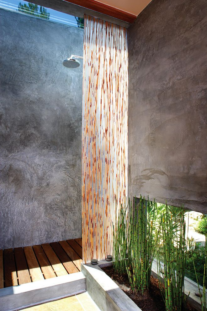 Avalon Apartments Los Angeles with Asian Bathroom Also Horsetail Minimal Modern Outdoor Shower Planters Rain Shower Head Resin Panel Wood Decking