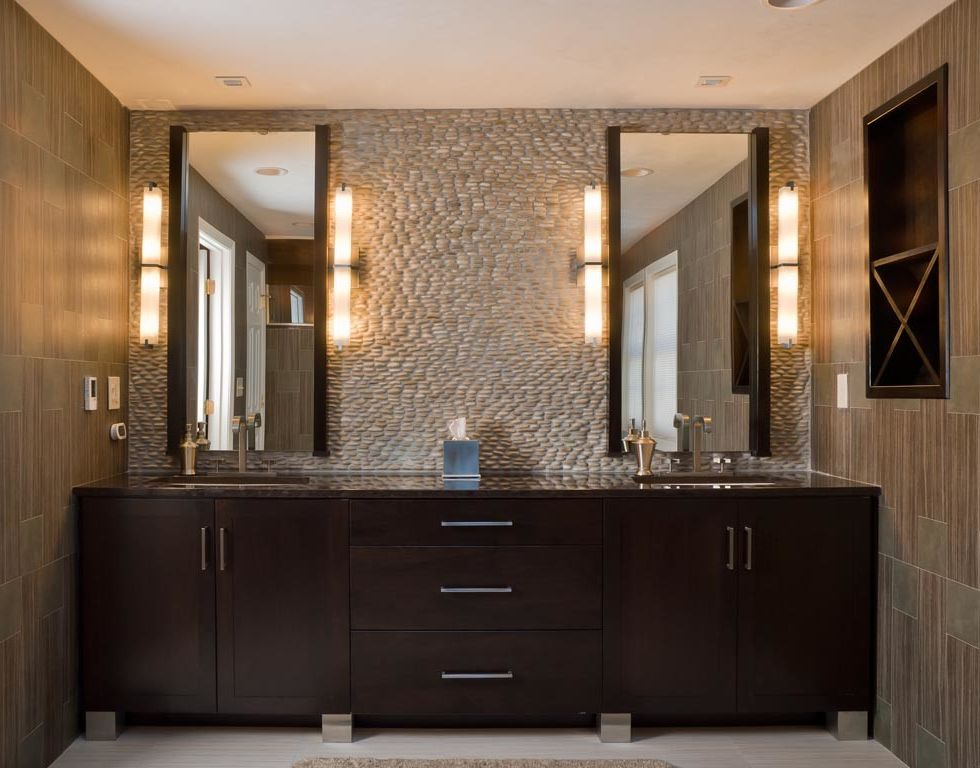 Avanity Mirrors with Modern Bathroom  and Modern