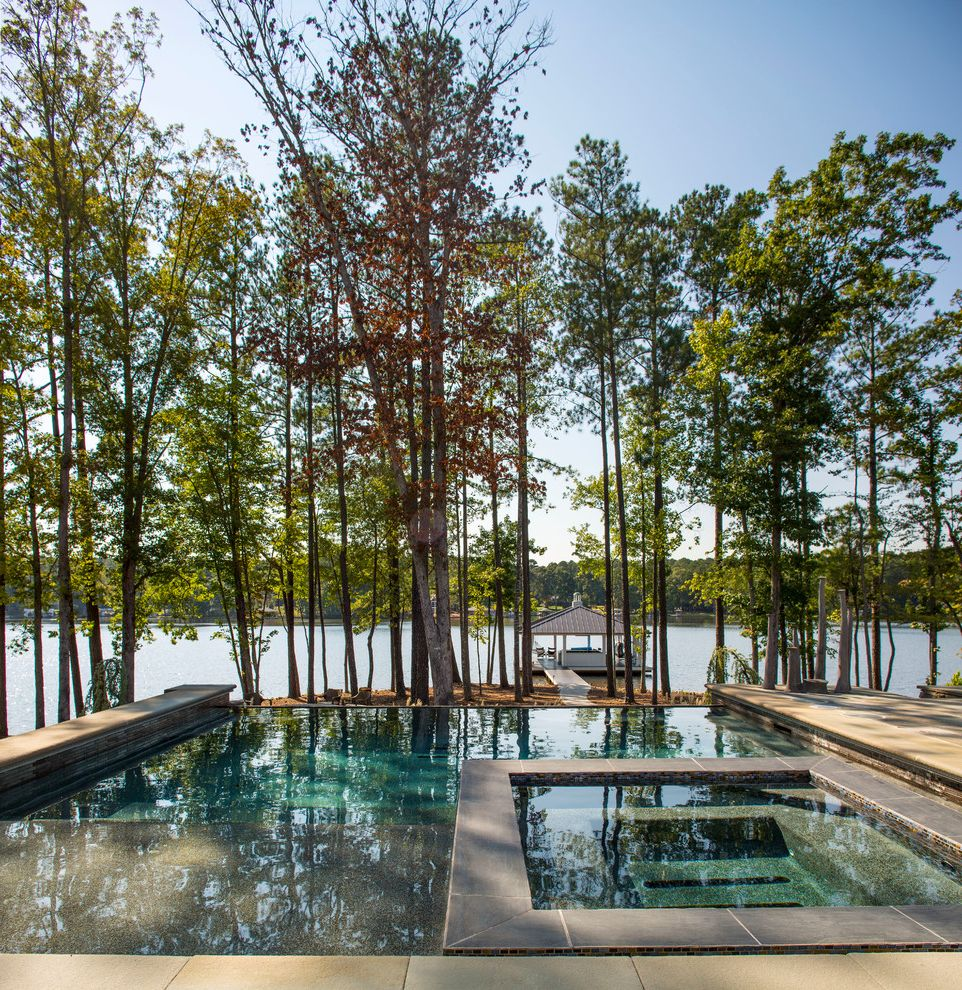 Avie Med Spa with Beach Style Pool  and Backyard Boat Dock Contemporary Design Creative Design Design Tips Designer Dock House Indoor Outdoor Interior Design Lake House Lakeside Nature Party Pool Rural Style