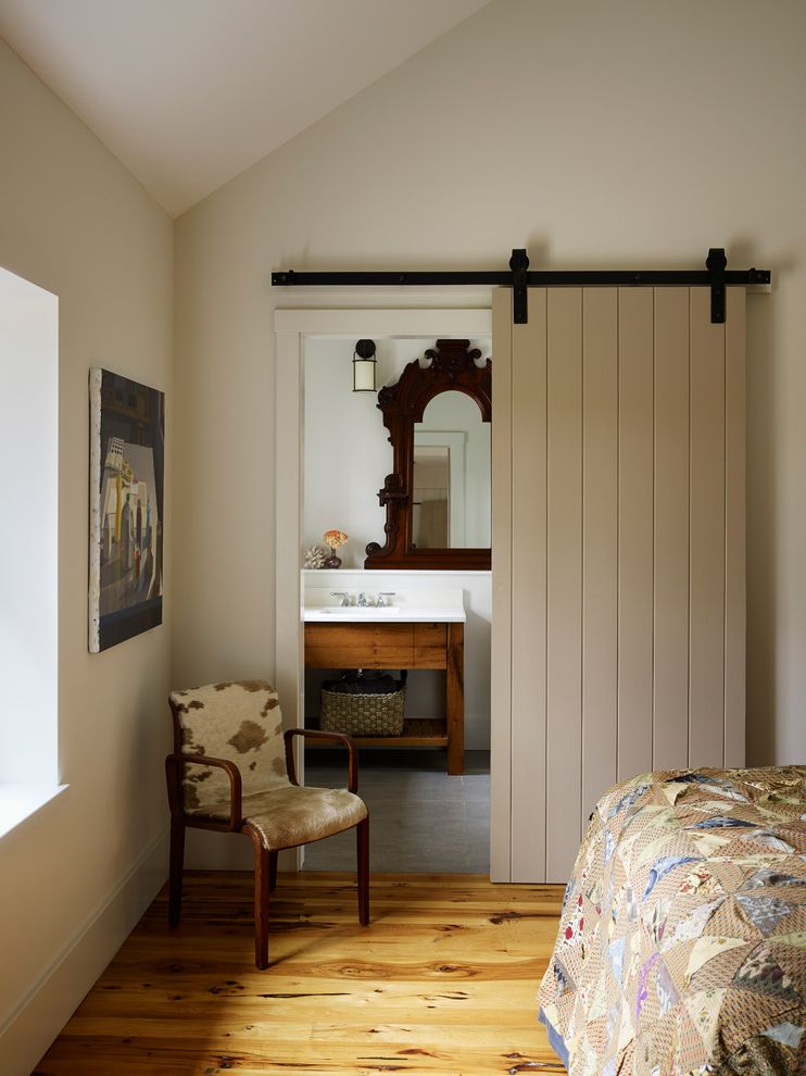 Barn Door Hardware Lowes   Farmhouse Bathroom Also Armchair Barn Door Bathroom Cowhide Chair en Suite Farmhouse Knotty Pine Modern Country Occasional Chair Quilt Track Door Vaulted Ceiling Wood Floor