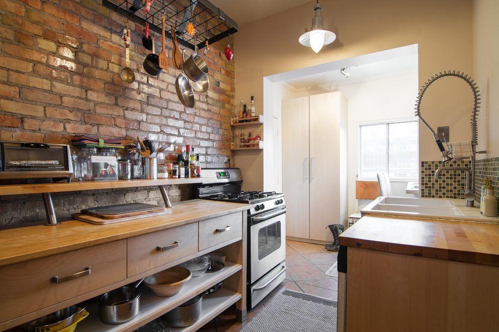Barnlight Originals with Eclectic Kitchen Also Area Rug Brick Wall Doorway Hand Held Faucet Hanging Pot Rack My Houzz Pantry Pendant Lighting Range Spice Rack Tile Floor