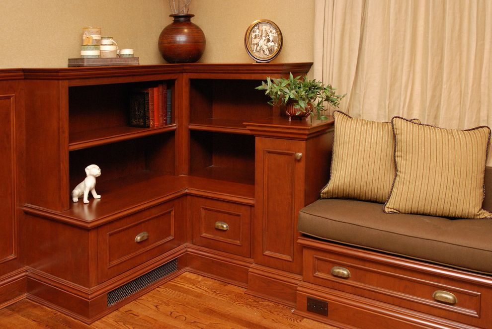 Baseboard Heat Covers   Traditional Family Room Also Baseboards Bookcase Bookshelves Built Ins Curtains Decorative Pillows Drapes Earth Tone Colors Storage Bench Throw Pillows Window Seat Window Treatments Wood Flooring
