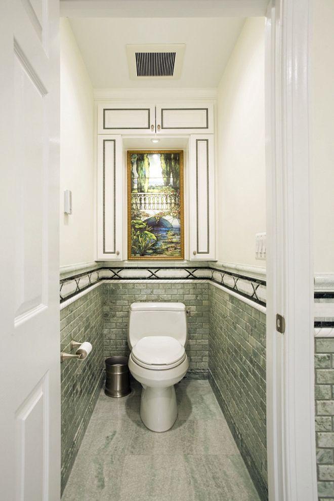 Basement Toilet   Contemporary Bathroom Also Accent Tiles Grey Flooring Mosaic Tiles Neutral Colors Stone Flooring Subway Tiles Wall Art Wall Decor Wall Tile Design
