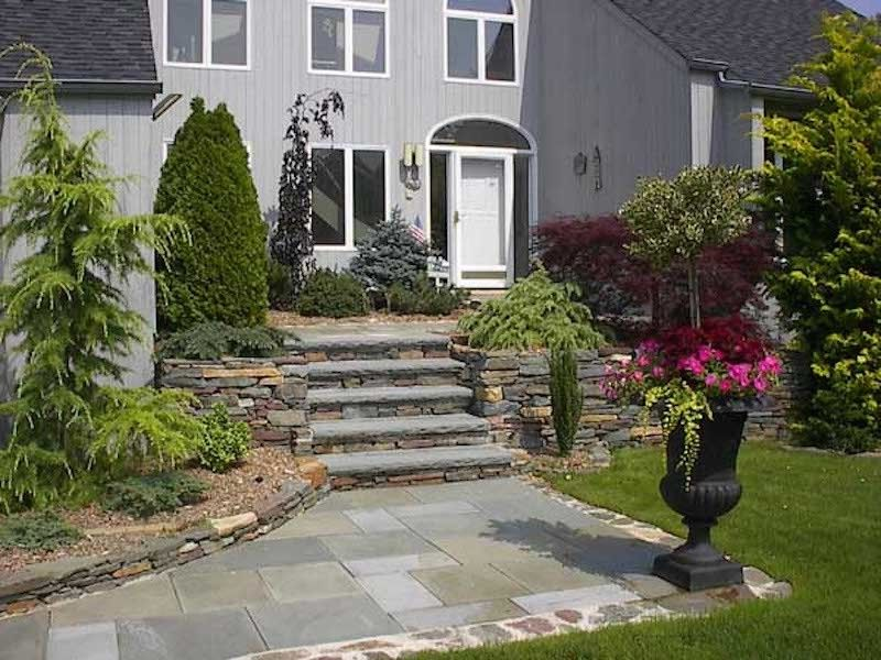 Bayport Flower House with Traditional Landscape Also Custom Landscaping Flower Arrangement Landscaped Entryway Landscaped Pathway Outdoor Living Stone Hardscaping