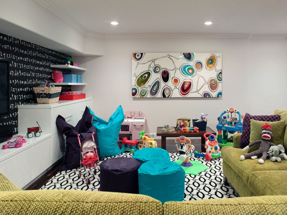 Bean Bags for Adults   Contemporary Kids  and Area Rug Chalk Paint Play Area Play Table Playroom Sectional Storage Toys