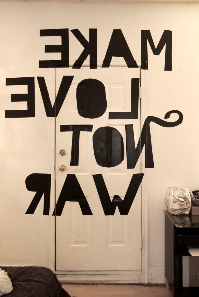 Bedinabox Serenity Gel with Eclectic Bedroom and Bedroom Door Black and White Door Wall Mural White Walls