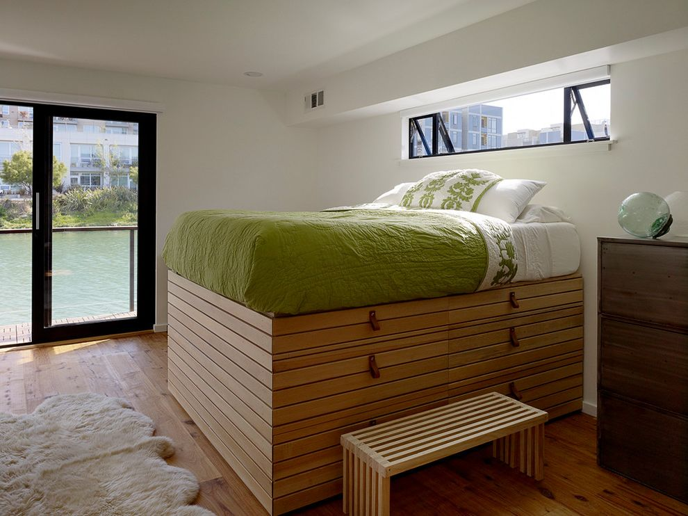 Bedroom Sets with Drawers Under Bed with Modern Bedroom  and Awning Windows Bedside Table Drawers Under Bed Green Bedding Nightstand Platform Bed Raised Bed Storage Ideas Under Bed Storage Wood Floors